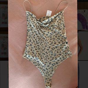 Leopard Cowlneck Bodysuit
